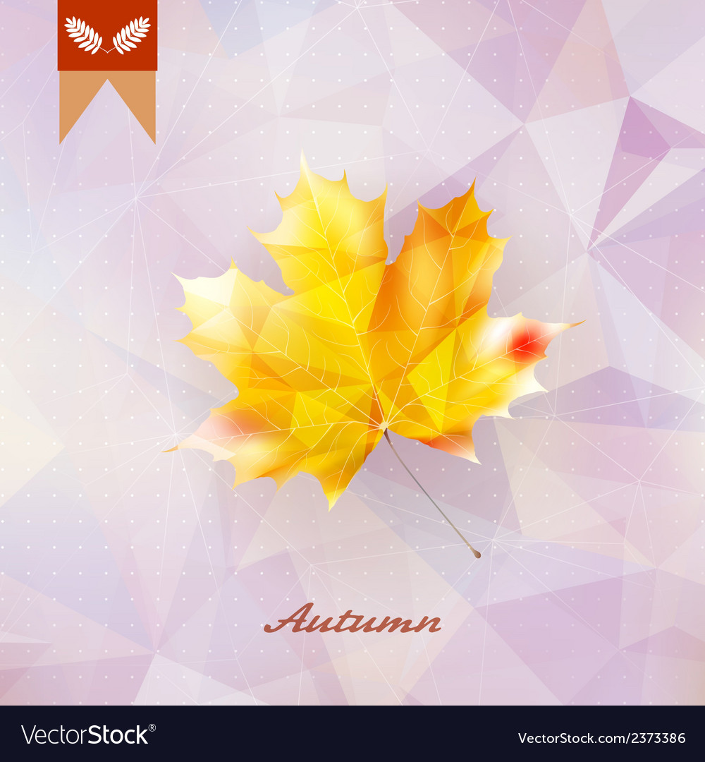 Autumnal leaf background made of triangles vector   Price: 1 Credit (USD $1)