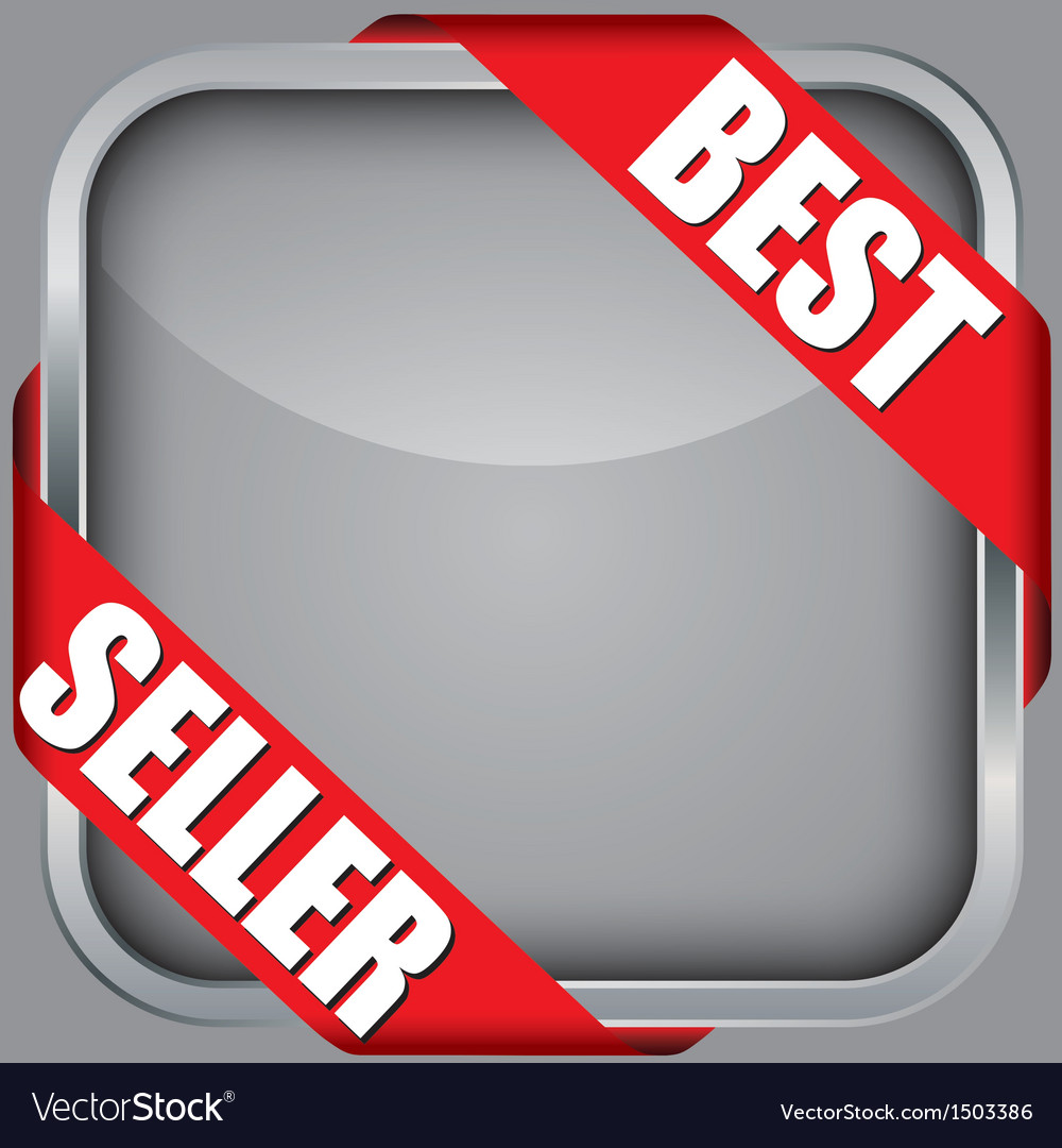 Blank app icon with best seller ribbon vector | Price: 1 Credit (USD $1)