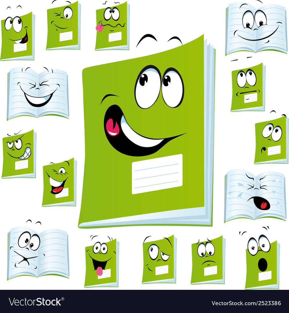 Exercise book cartoon vector | Price: 1 Credit (USD $1)