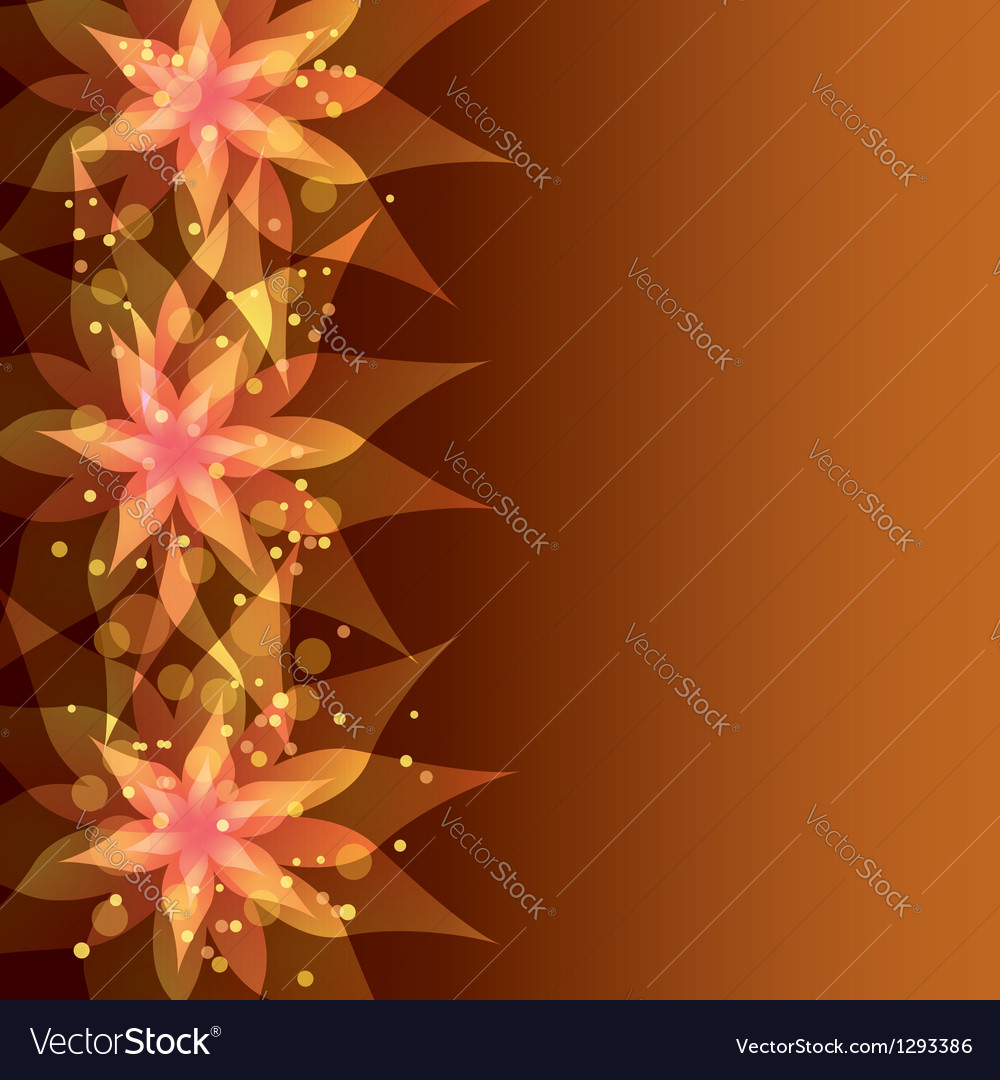 Floral background with decorative flower vector | Price: 1 Credit (USD $1)