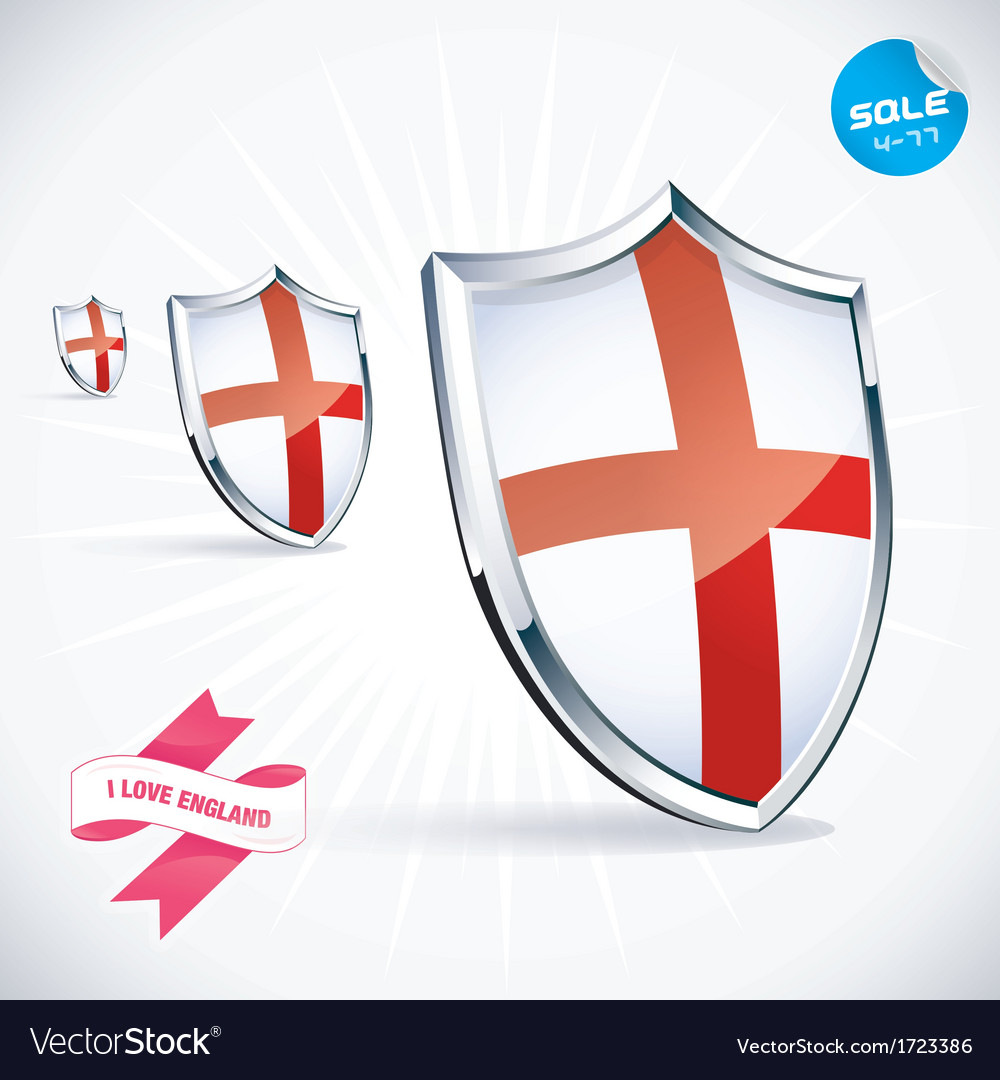 I love england flag vector | Price: 1 Credit (USD $1)