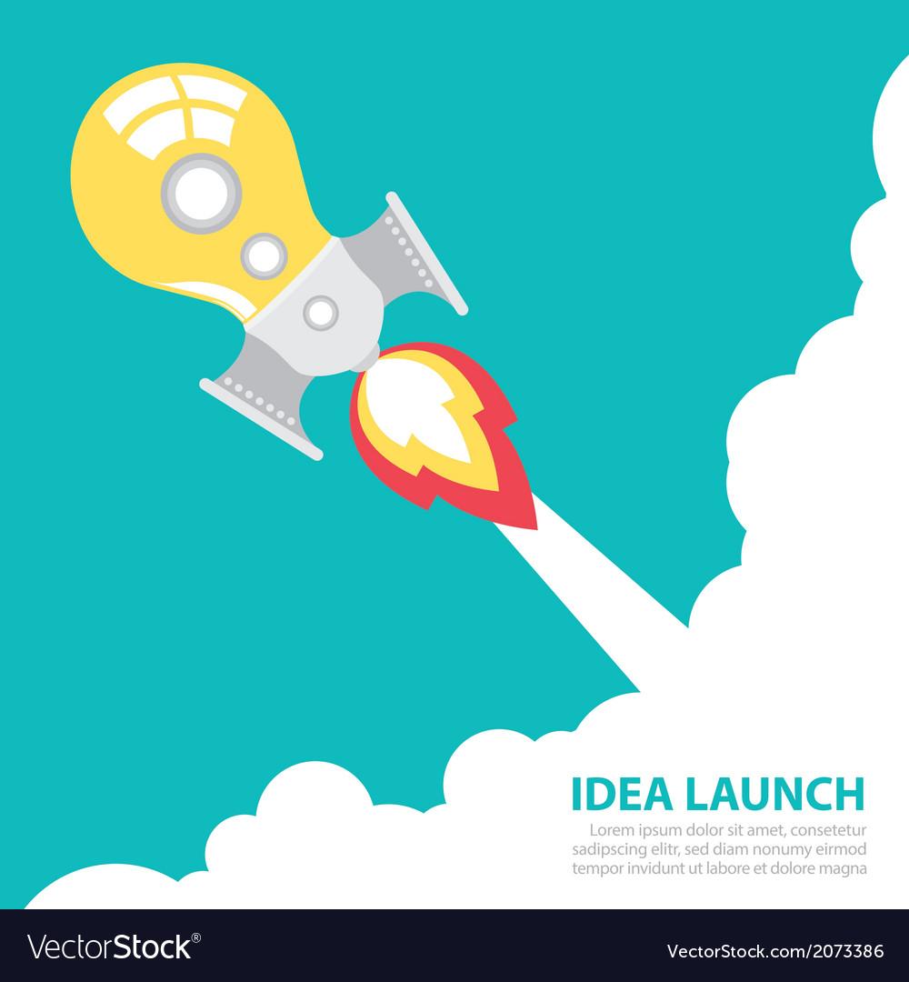Idea rocket launch vector | Price: 1 Credit (USD $1)