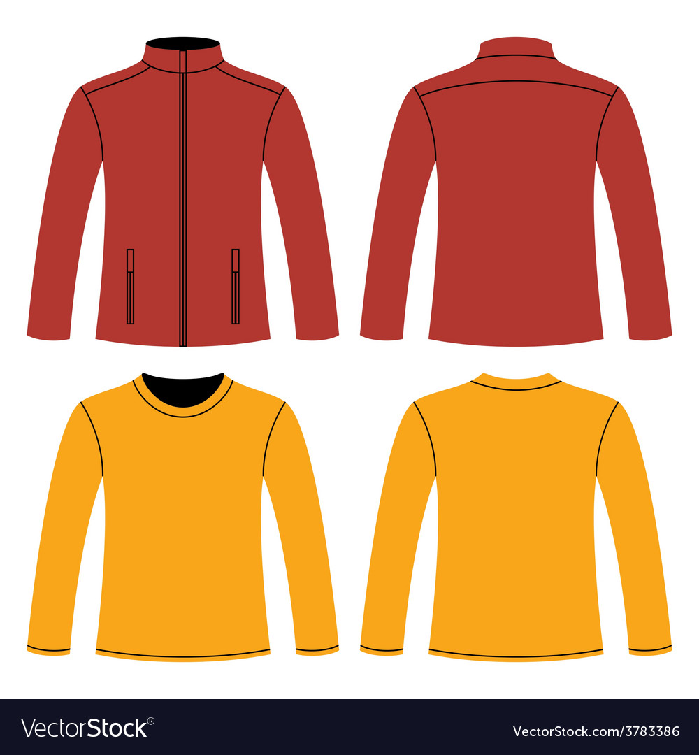 Jacket and long-sleeved t-shirt vector | Price: 1 Credit (USD $1)