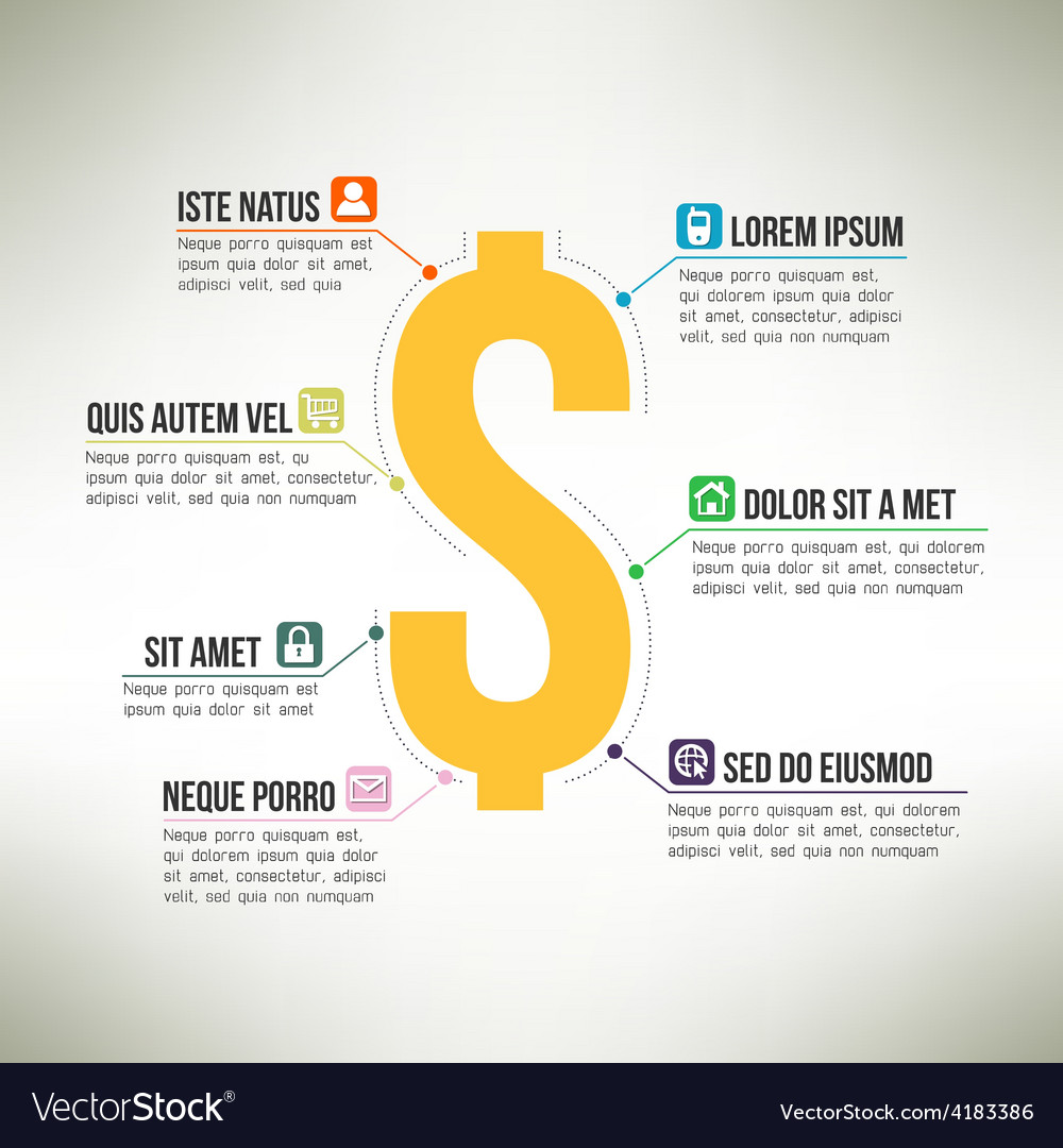 Money infographic template suitable for business vector   Price: 1 Credit (USD $1)