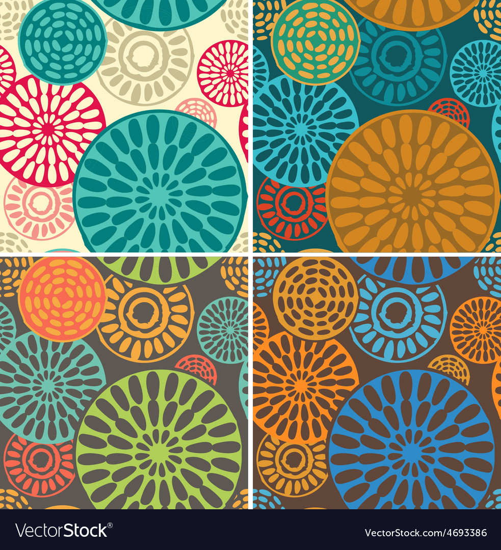 Seamless geometric tribal vintage patterns vector | Price: 1 Credit (USD $1)