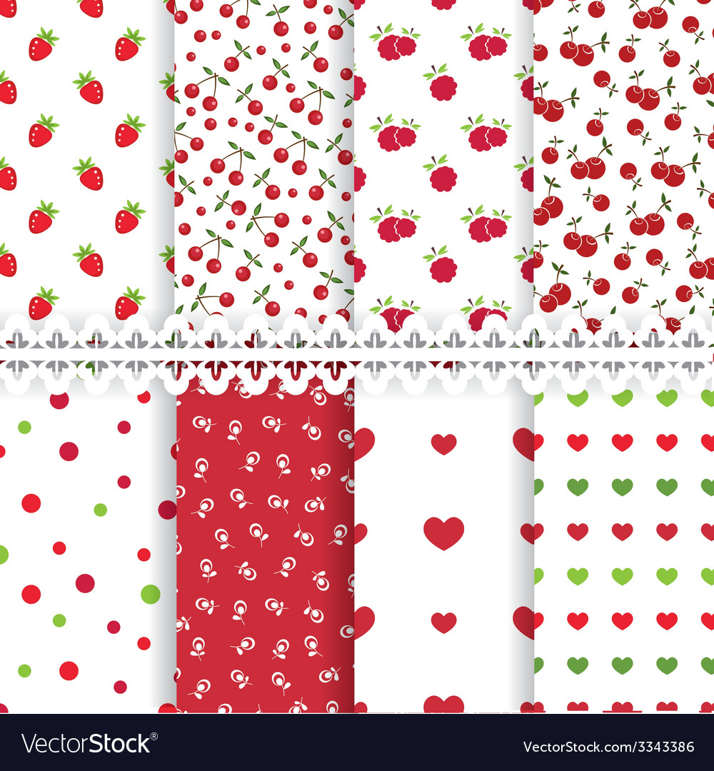 Set of floral seamless patterns vector   Price: 1 Credit (USD $1)
