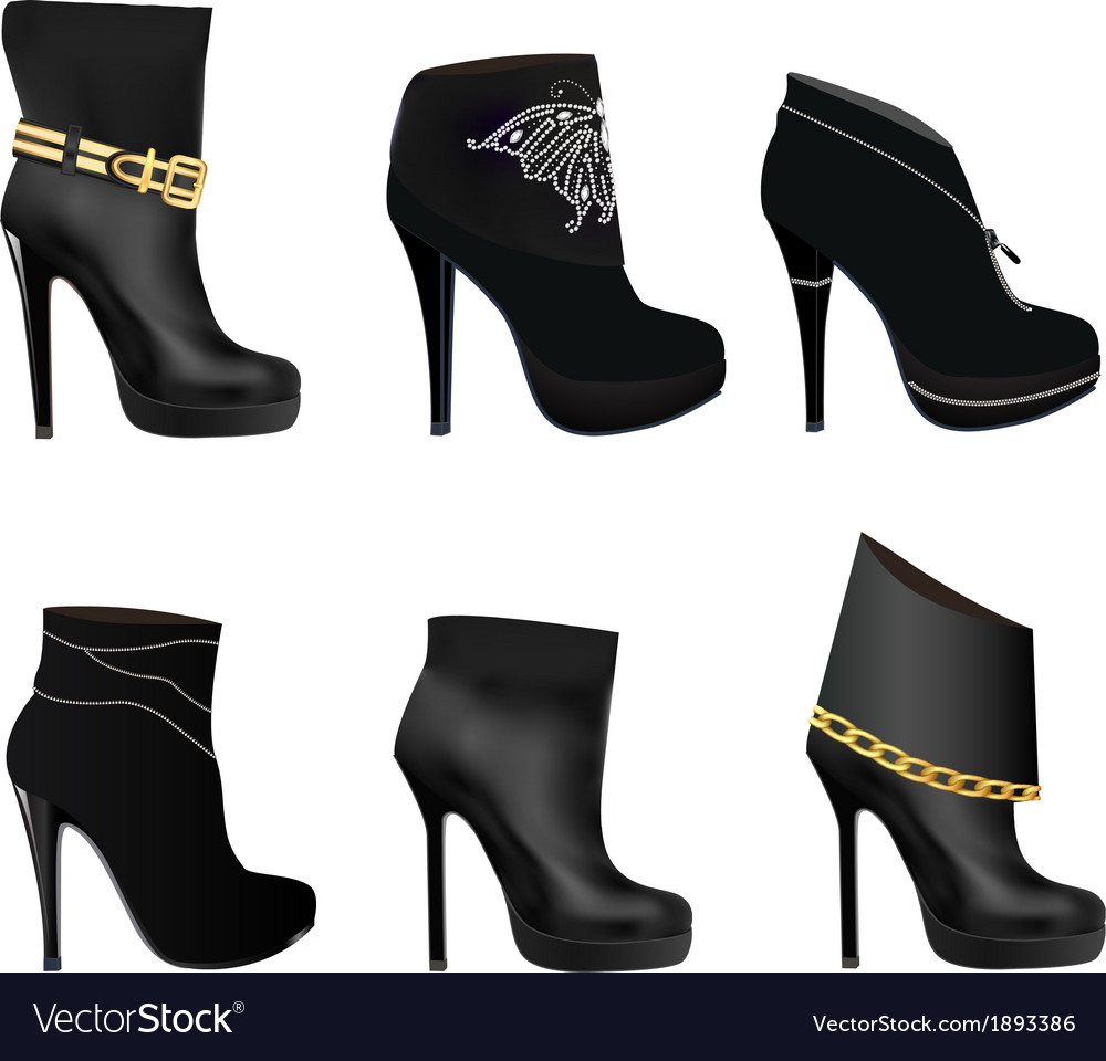 Set of womens boots vector | Price: 1 Credit (USD $1)