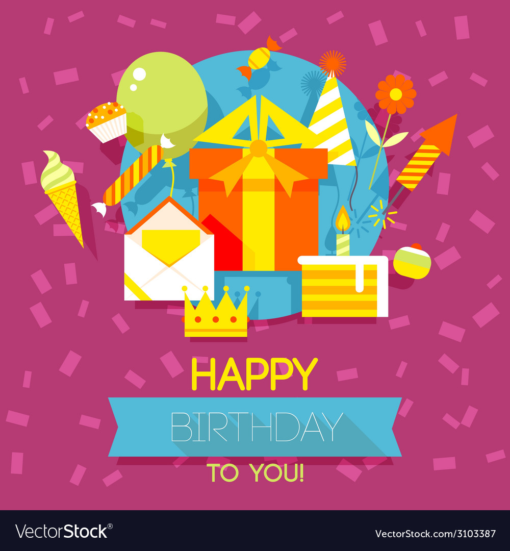 Birthday anniversary jubilee party invitation card vector | Price: 1 Credit (USD $1)