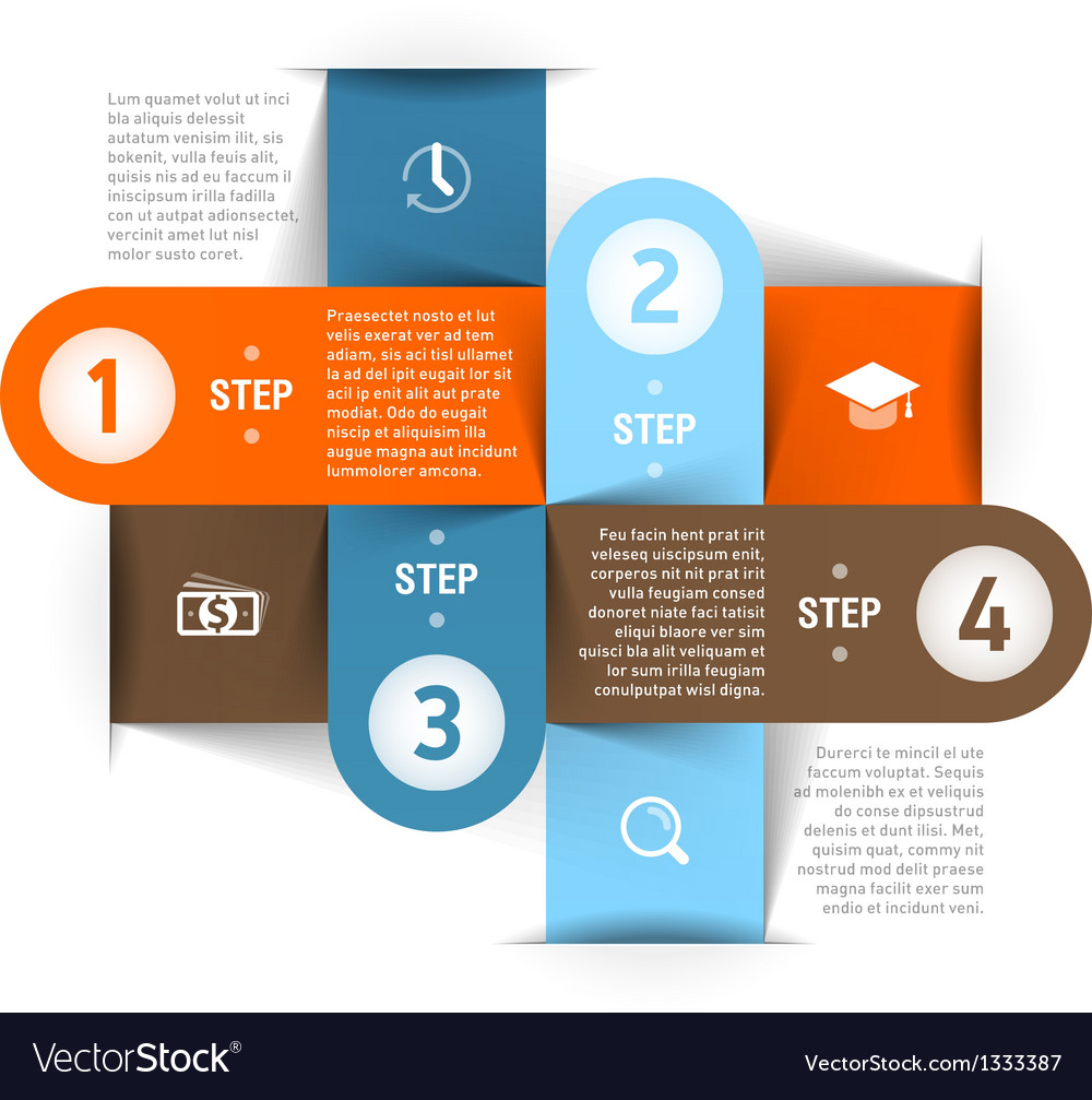 Business steps infographics template vector | Price: 1 Credit (USD $1)