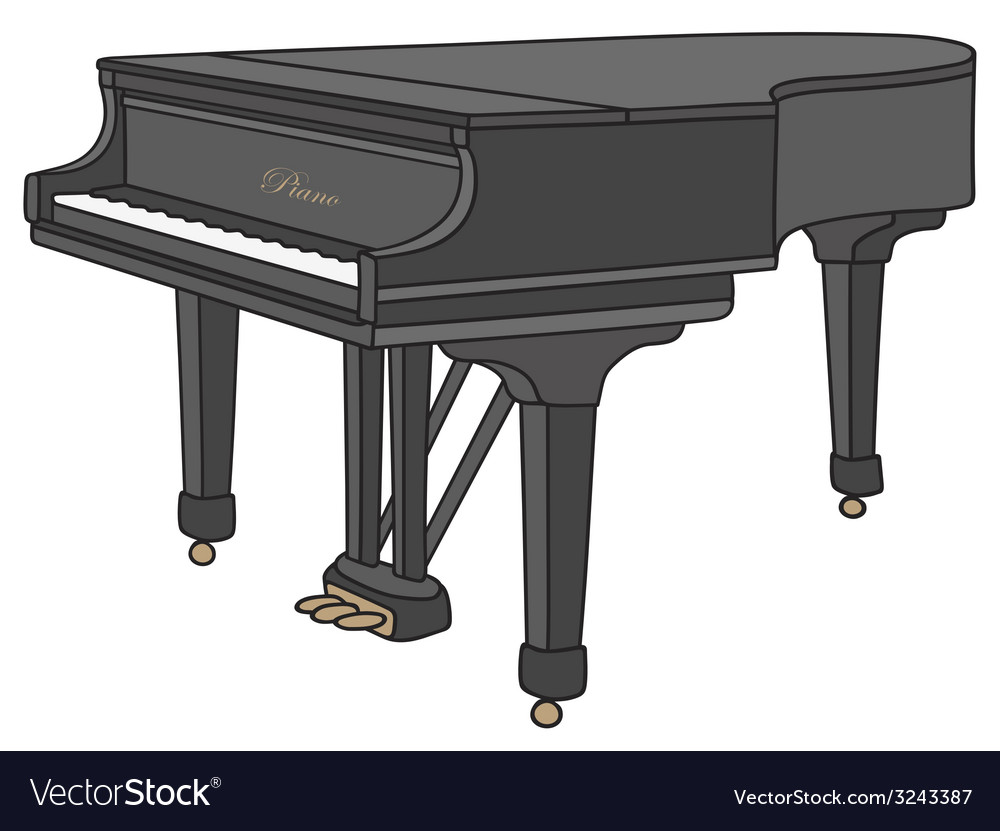 Grand piano vector | Price: 1 Credit (USD $1)