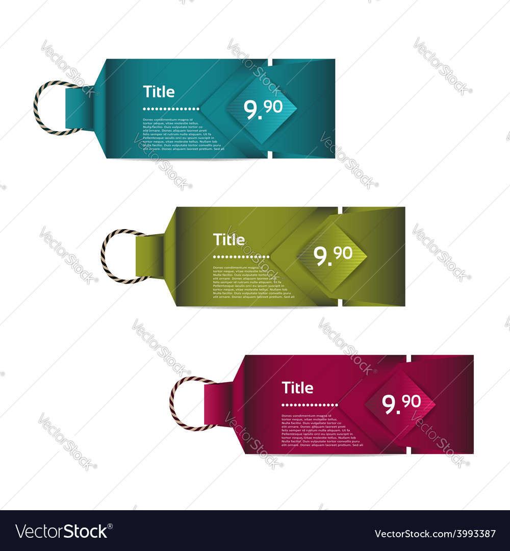 Paper price tag eps 10 vector | Price: 1 Credit (USD $1)