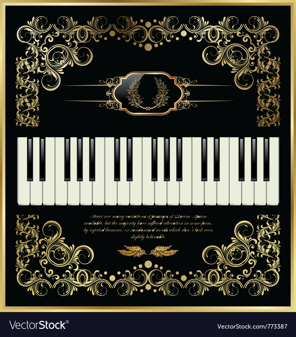 Piano keys - elegant background vector | Price: 1 Credit (USD $1)