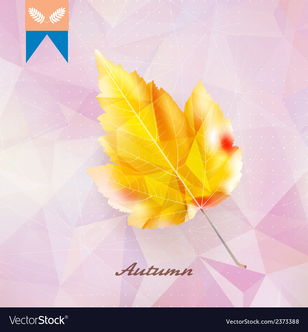 Autumnal leaf background made of triangles vector | Price: 1 Credit (USD $1)