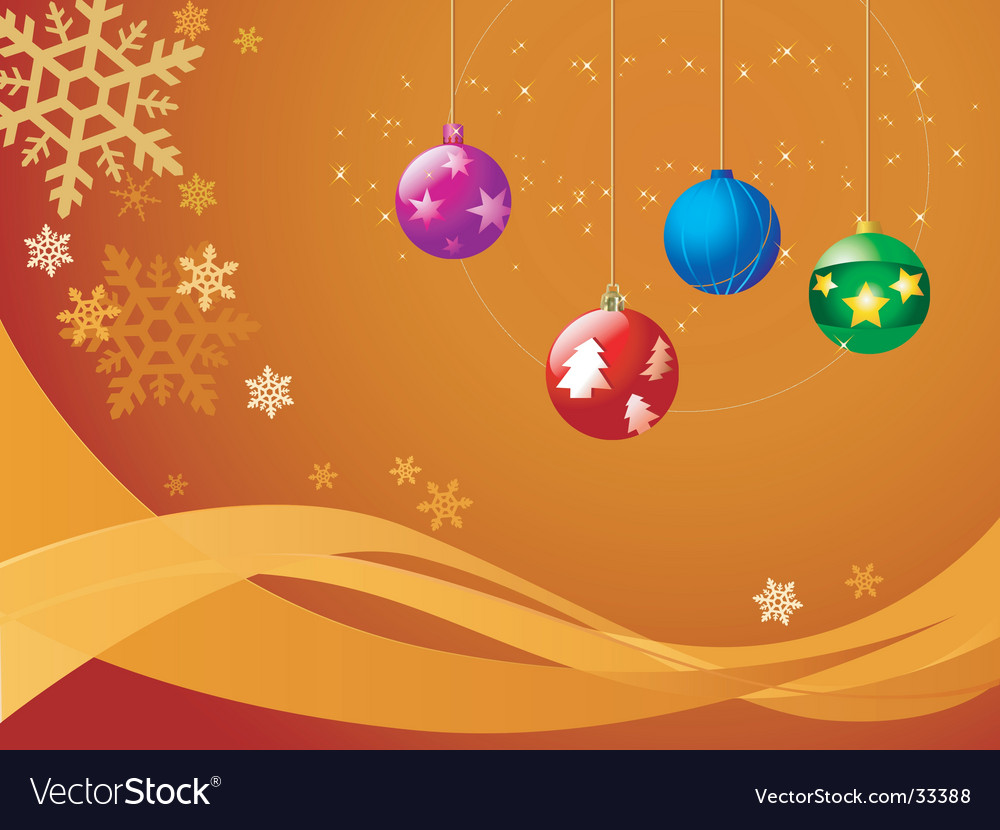 Christmas ball ornaments vector | Price: 1 Credit (USD $1)