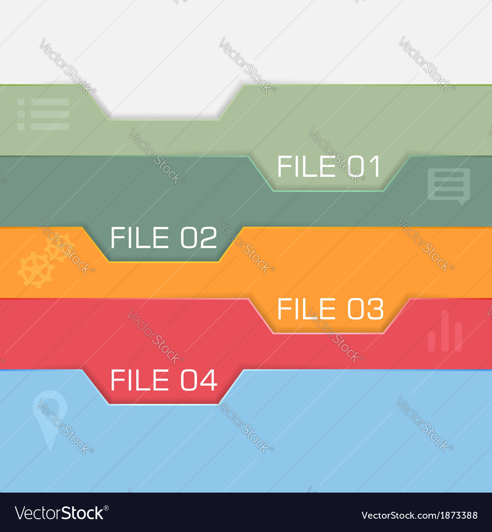 Flat interface design - files to choose vector | Price: 1 Credit (USD $1)