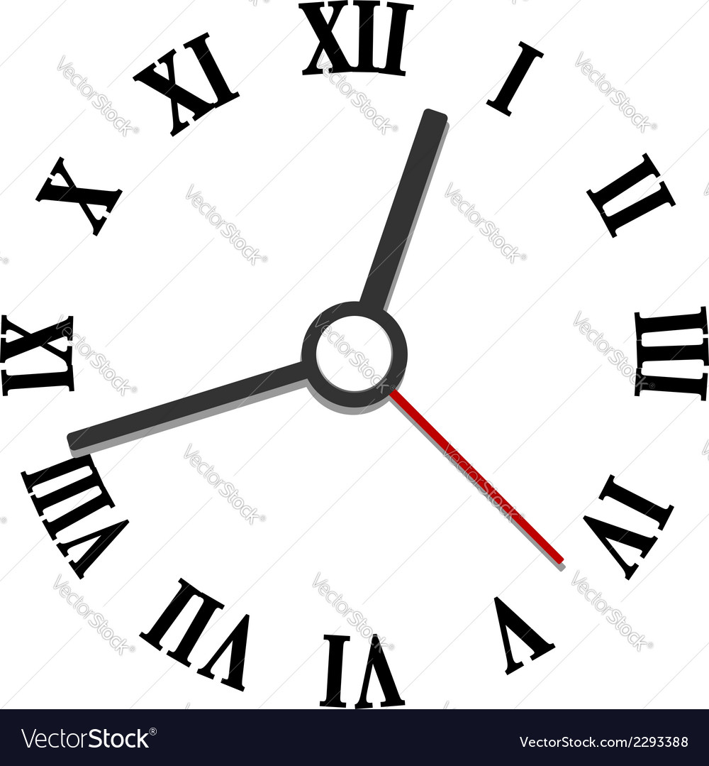 Hands and numerals clock elements vector | Price: 1 Credit (USD $1)