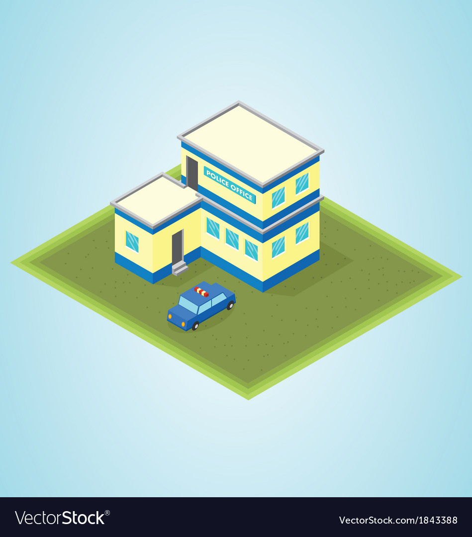 Isometric police station vector | Price: 1 Credit (USD $1)