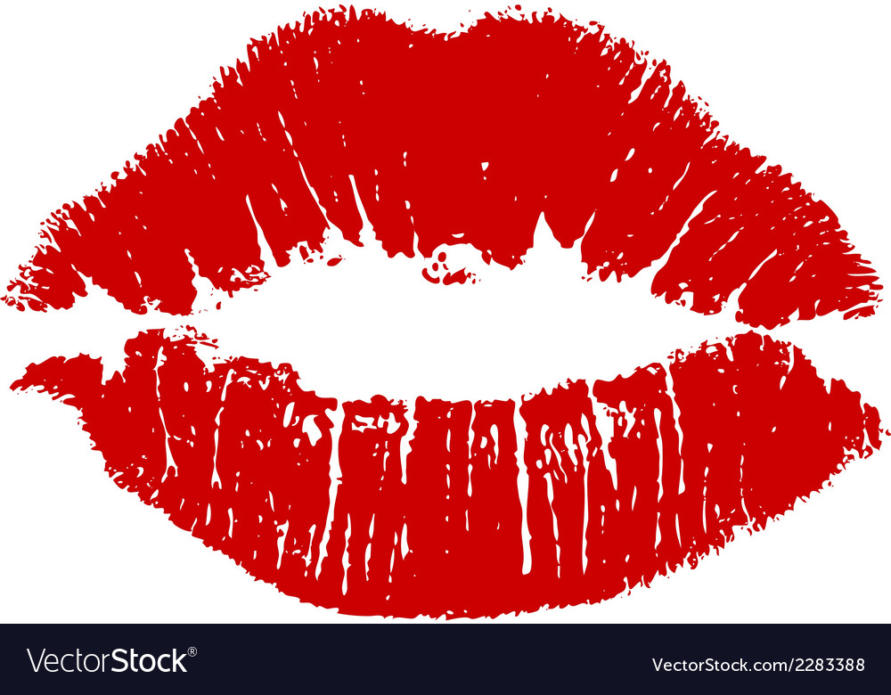Kiss lips vector | Price: 1 Credit (USD $1)