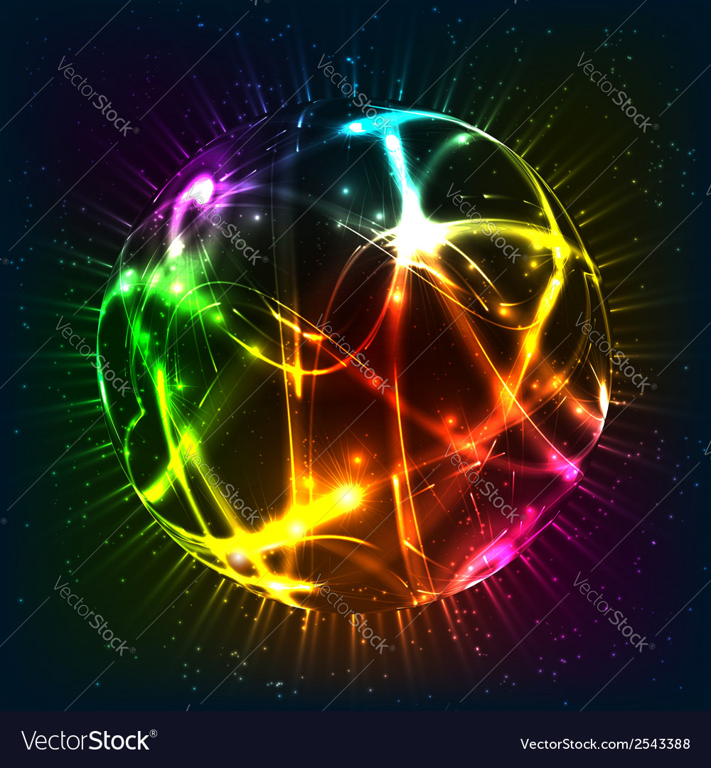 Neon shining sphere vector | Price: 1 Credit (USD $1)