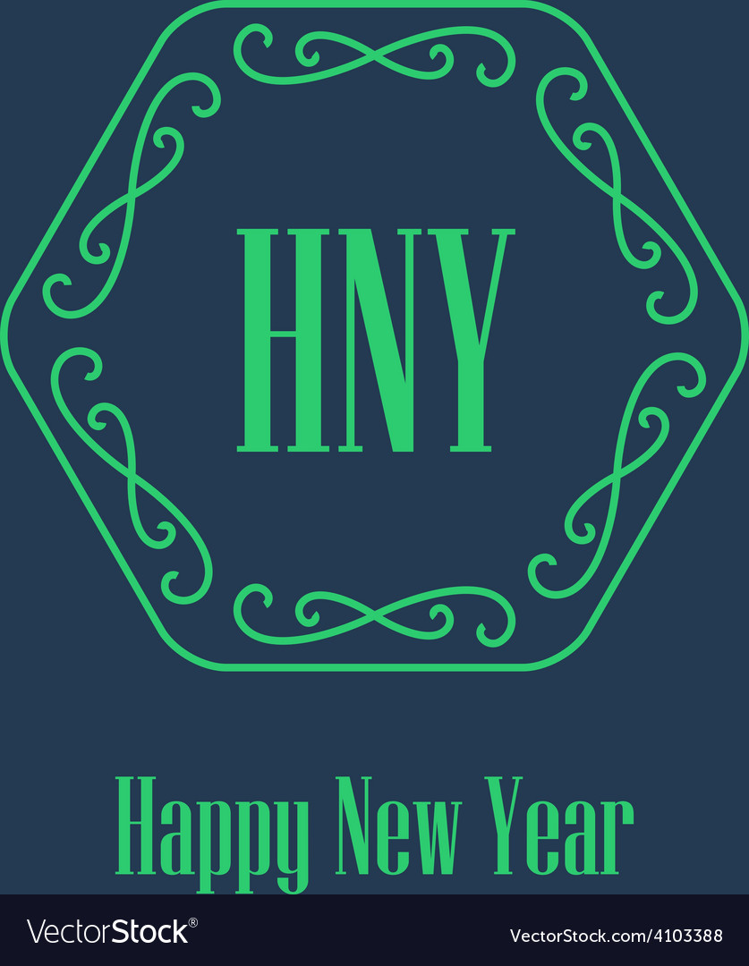 New year festive card monograms style decorative vector | Price: 1 Credit (USD $1)