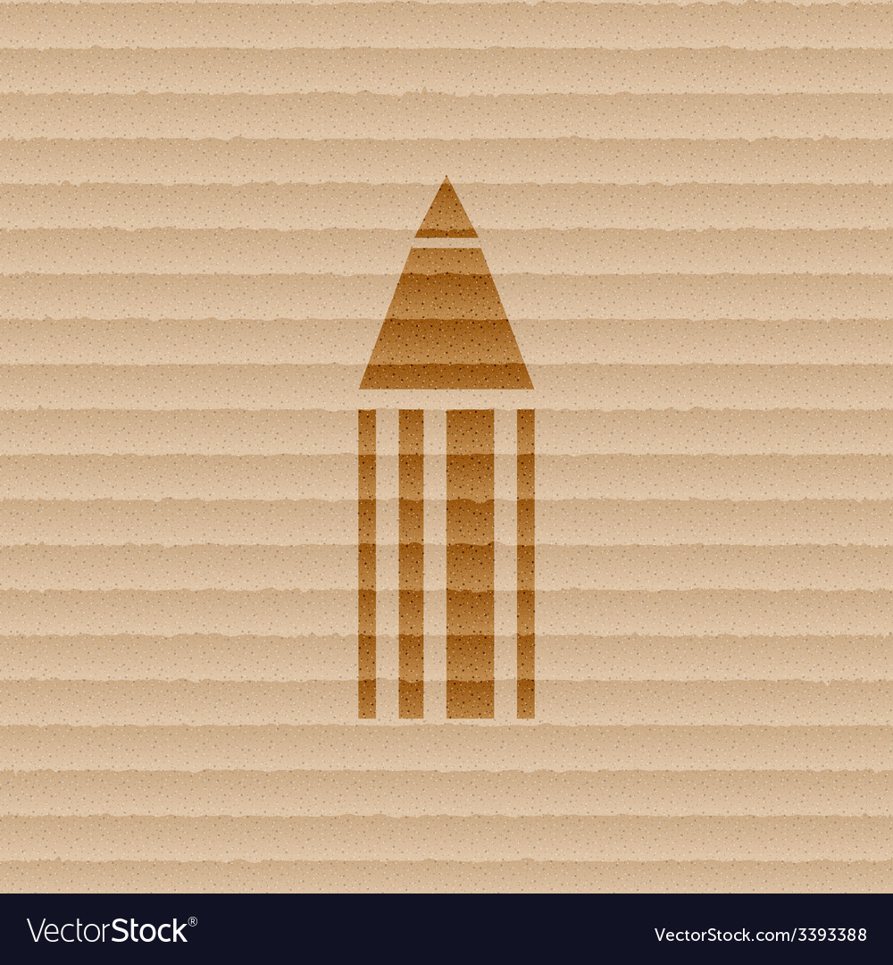 Pencil icon symbol flat modern web design with vector | Price: 1 Credit (USD $1)