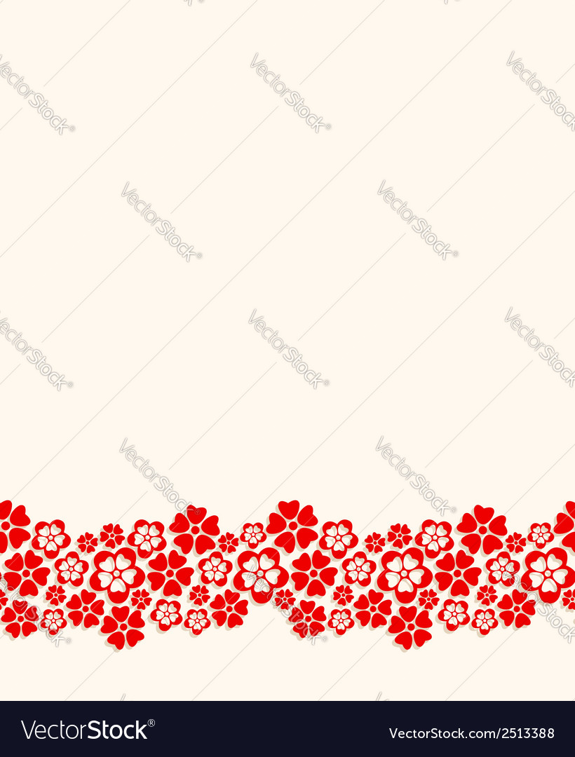 Seamless bottom border vector | Price: 1 Credit (USD $1)