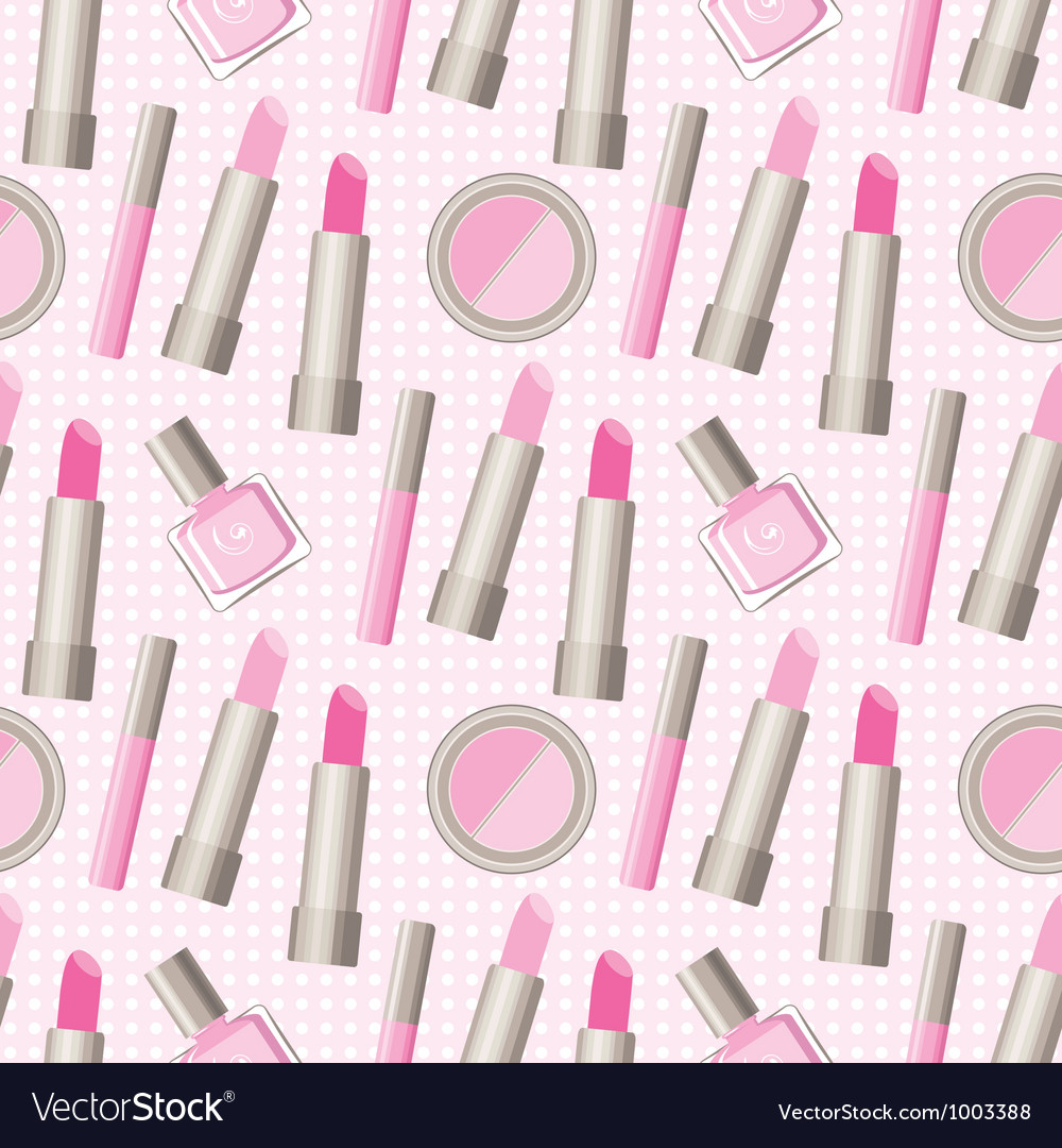 Seamless cosmetics pattern vector | Price: 1 Credit (USD $1)