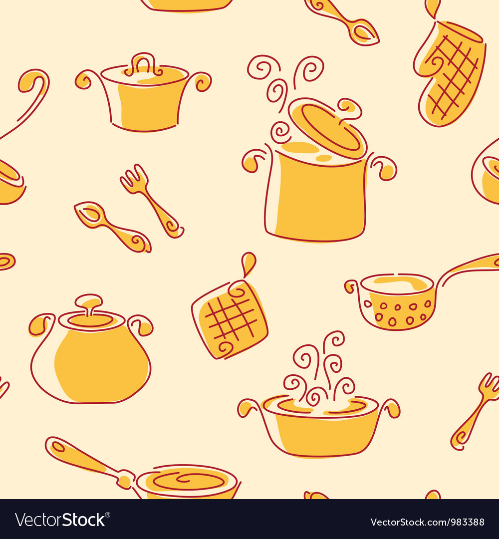 Seamless utensil pattern vector | Price: 1 Credit (USD $1)