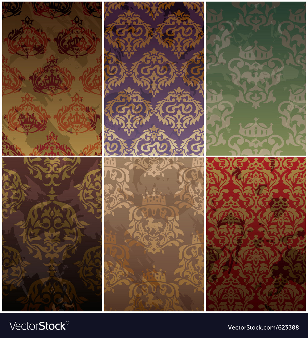 Seamless vintage backgrounds vector | Price: 1 Credit (USD $1)