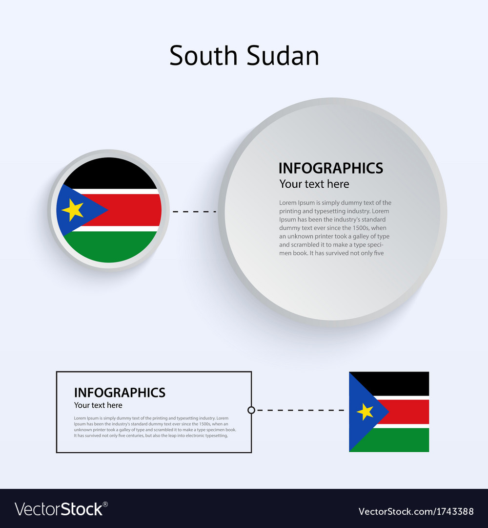 South sudan country set of banners vector | Price: 1 Credit (USD $1)
