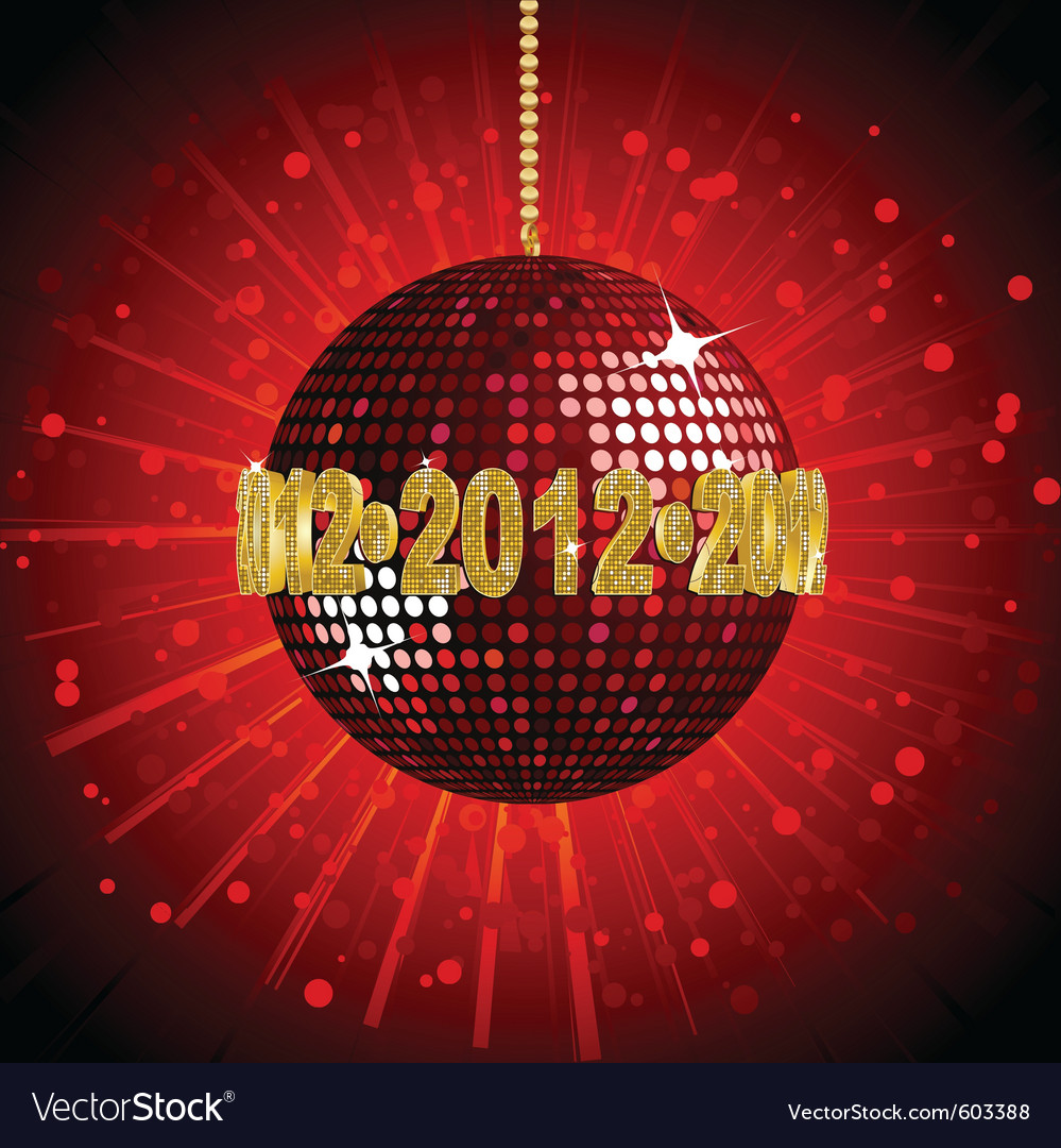 Sparkling red disco ball vector   Price: 1 Credit (USD $1)