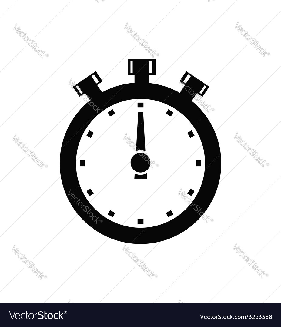 Stopwatch icon vector | Price: 1 Credit (USD $1)