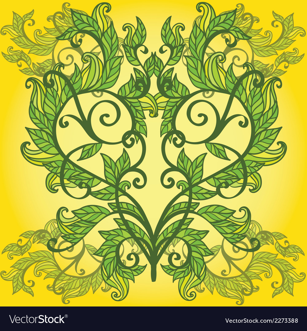 Vignette with floral heart vector | Price: 1 Credit (USD $1)