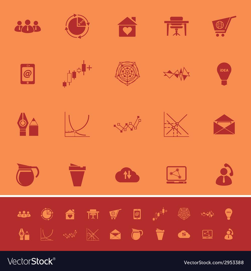 Virtual organization color icons on orange vector | Price: 1 Credit (USD $1)