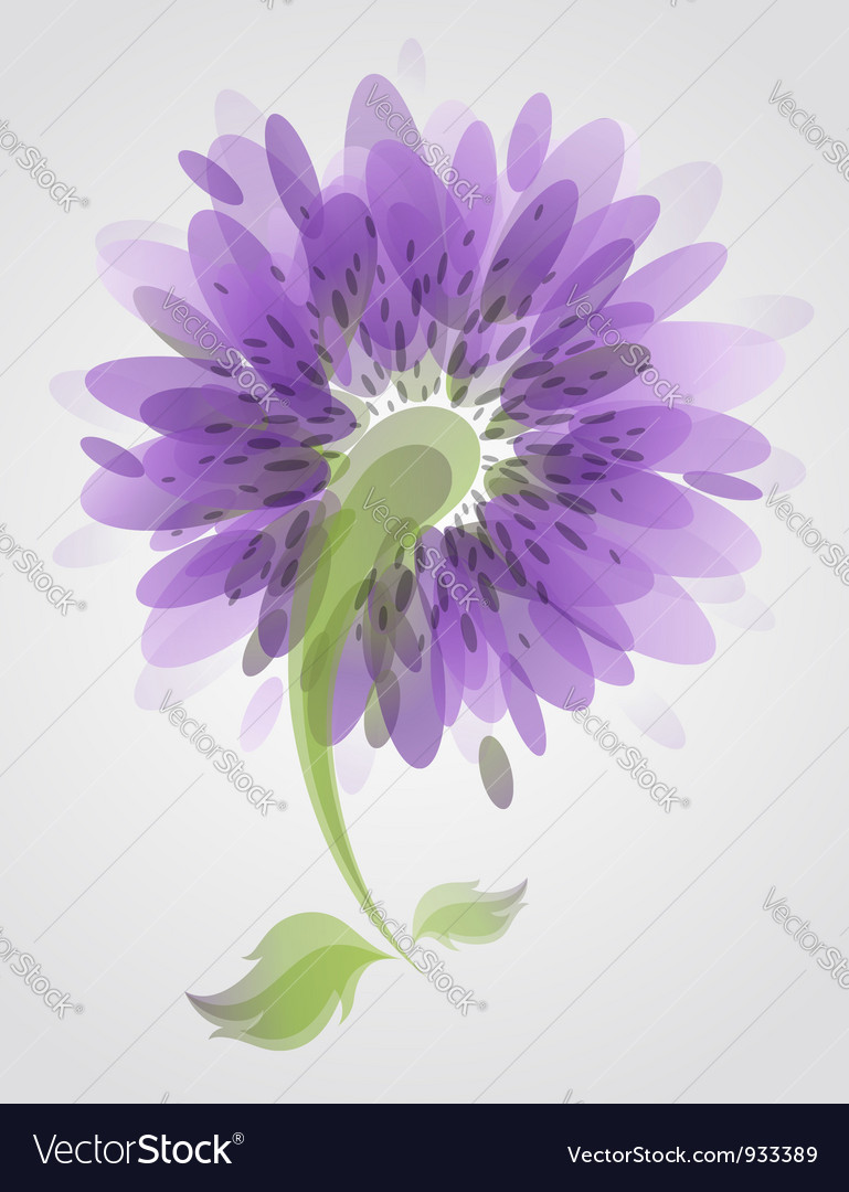 Abstract purple flower vector | Price: 1 Credit (USD $1)