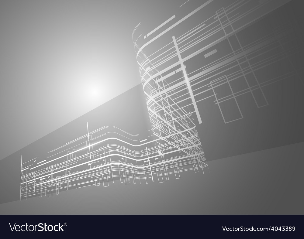 Abstract technology black and white background vector | Price: 1 Credit (USD $1)