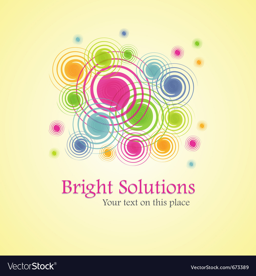 Bright solution background from spirals vector | Price: 1 Credit (USD $1)