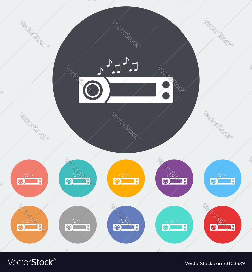 Car radio icon vector | Price: 1 Credit (USD $1)