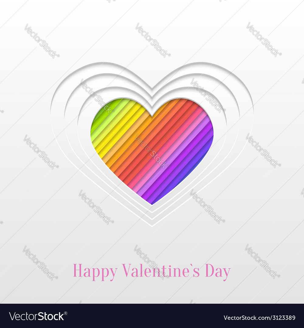 Creative valentines day heart greeting card vector | Price: 1 Credit (USD $1)