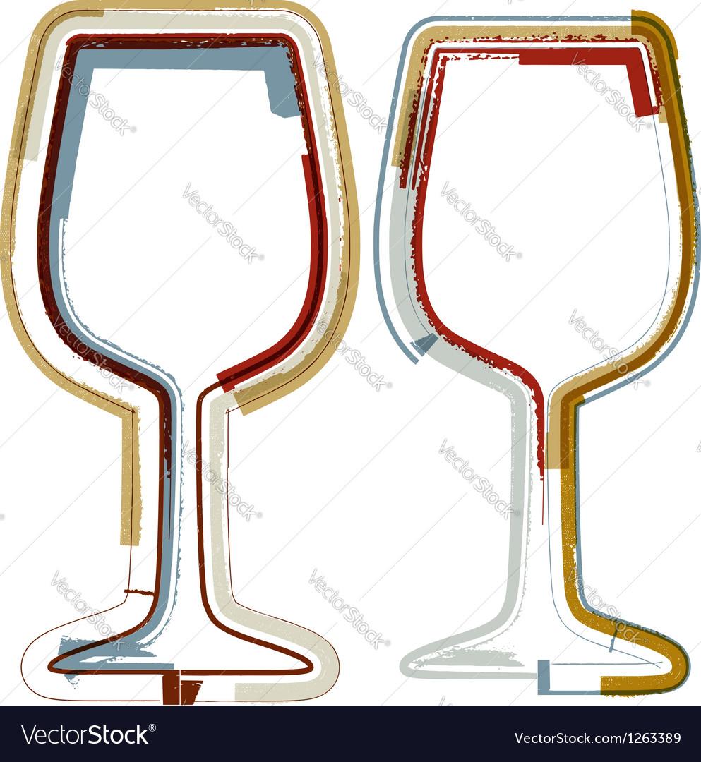 Glasses of wine vector   Price: 1 Credit (USD $1)
