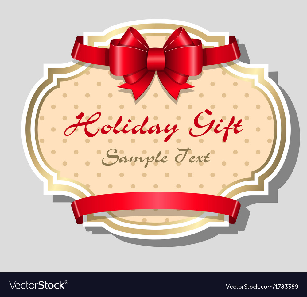 Holiday gift card template vector | Price: 1 Credit (USD $1)