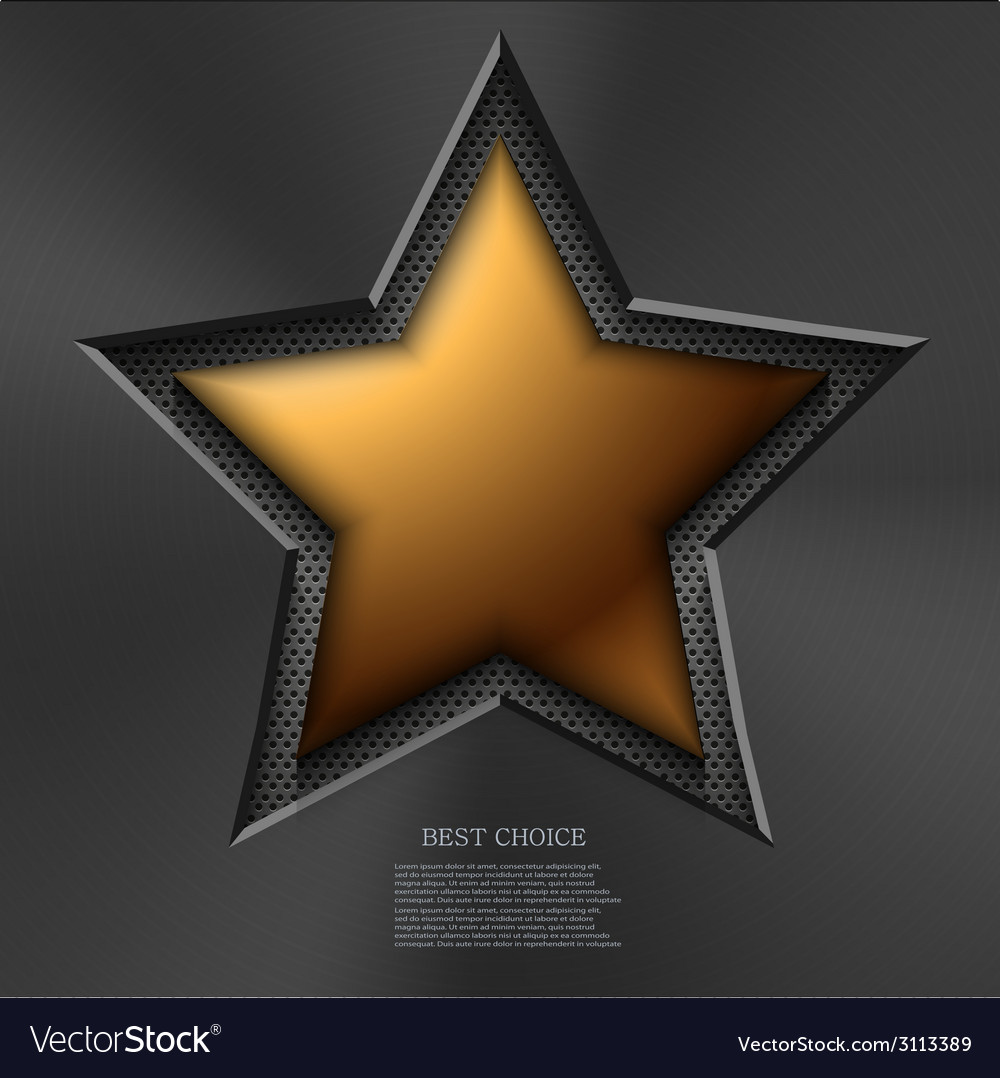 Modern gold star background vector | Price: 1 Credit (USD $1)