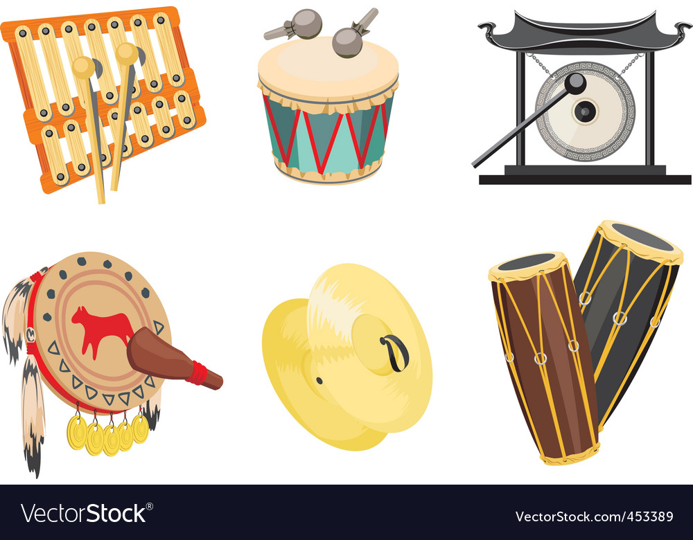 Music drums vector | Price: 3 Credit (USD $3)