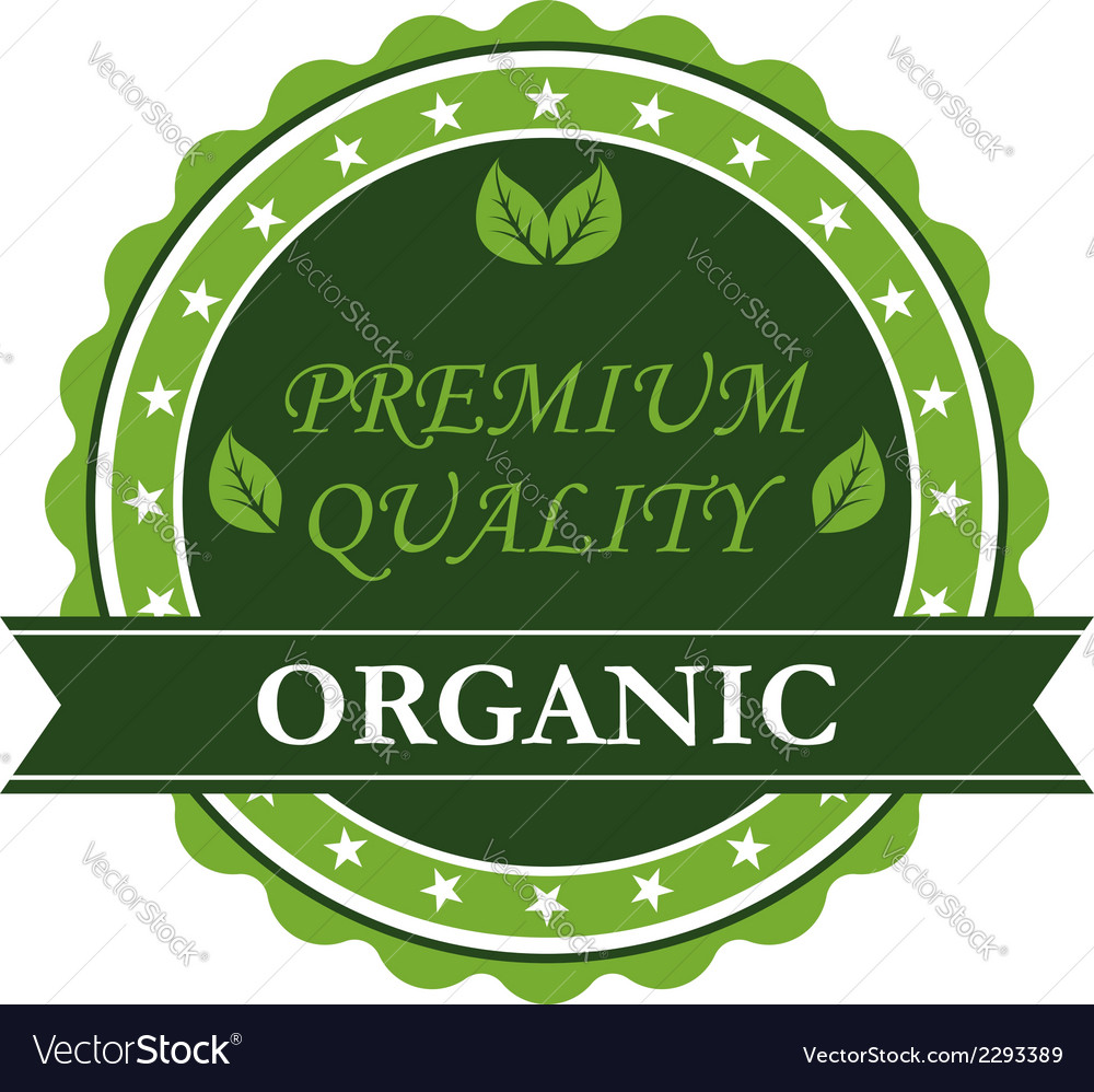 Organic premium quality label vector | Price: 1 Credit (USD $1)