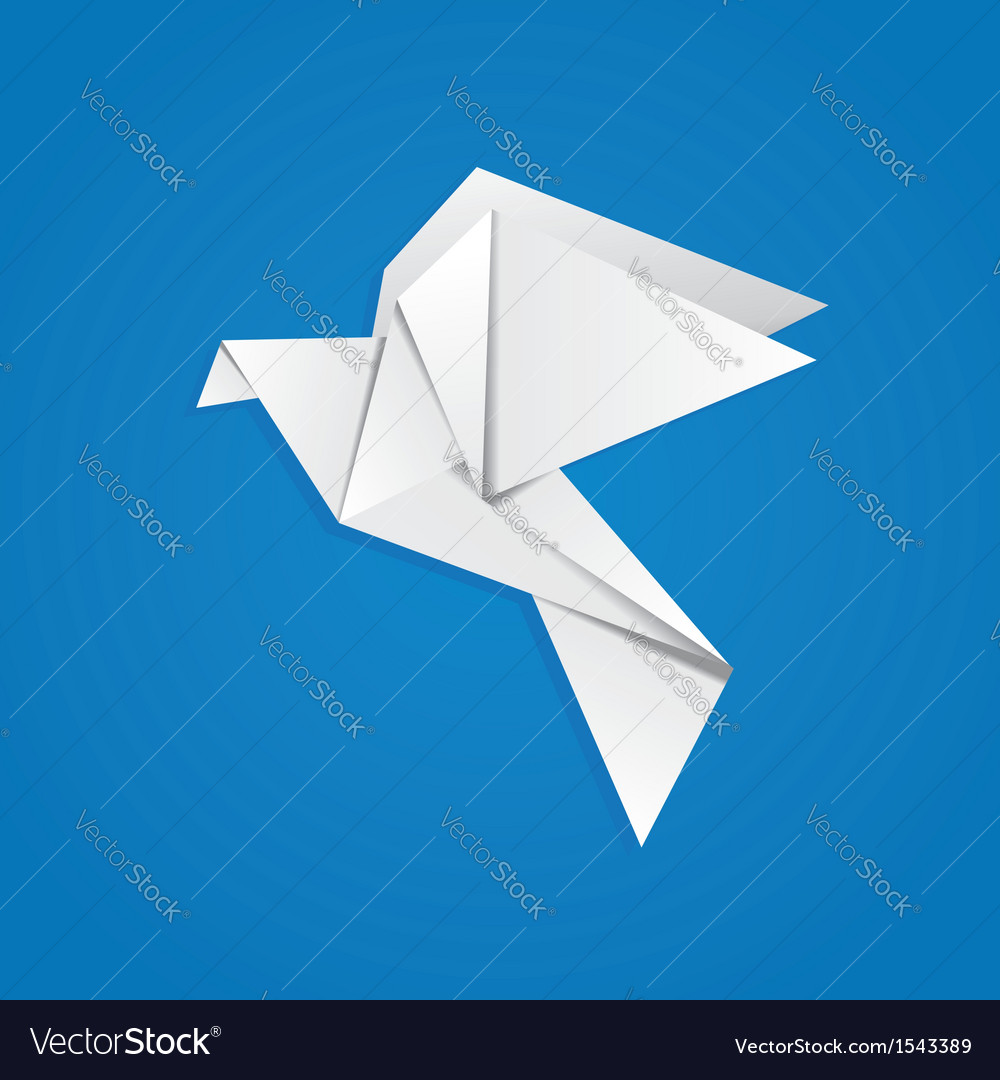 Origami pigeon vector | Price: 1 Credit (USD $1)