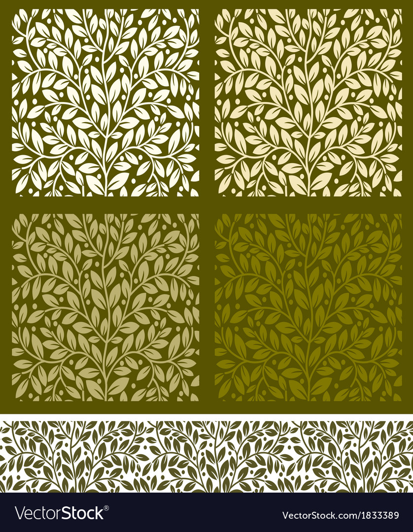 Seamless pattern with leaves vector | Price: 1 Credit (USD $1)