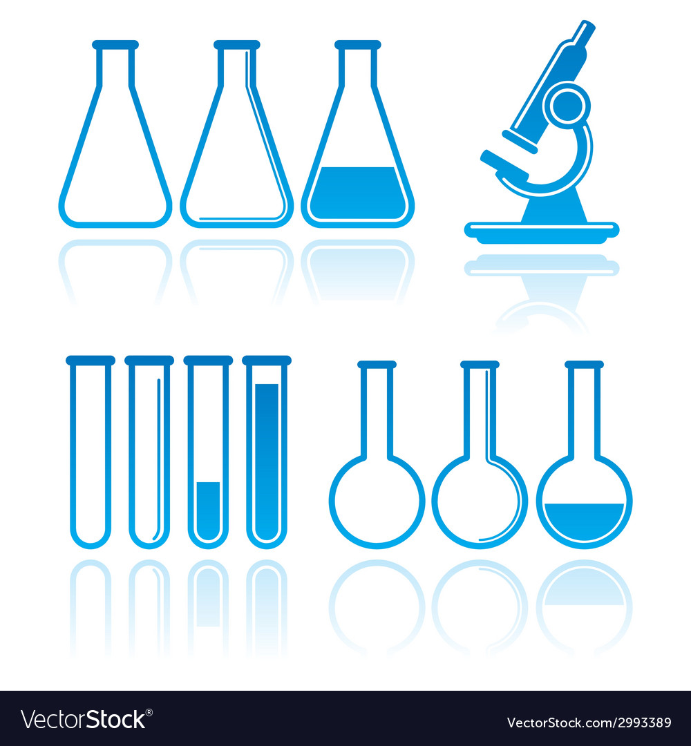 Set of laboratory equipment icons science concept vector | Price: 1 Credit (USD $1)