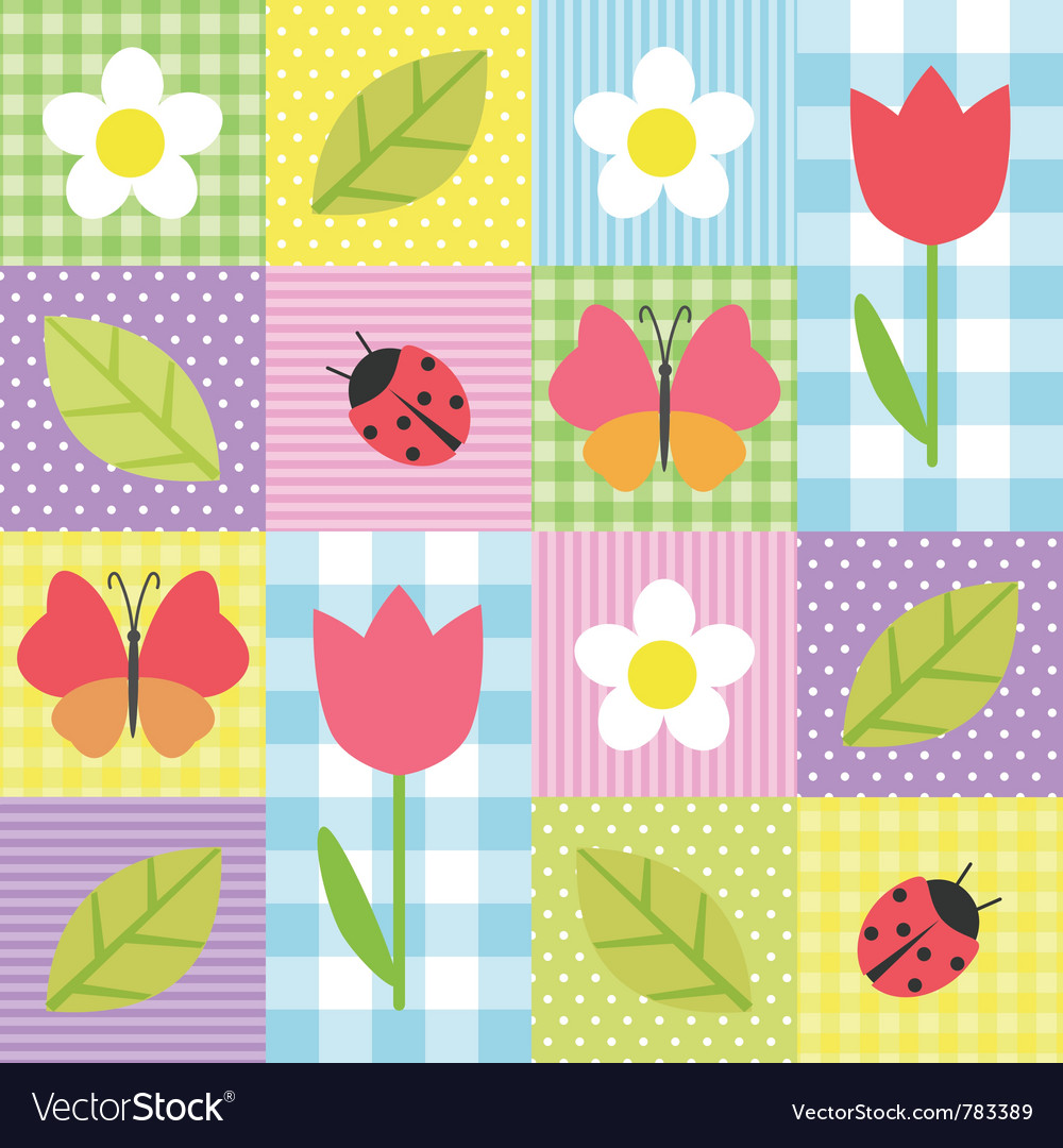 Spring pattern vector | Price: 1 Credit (USD $1)