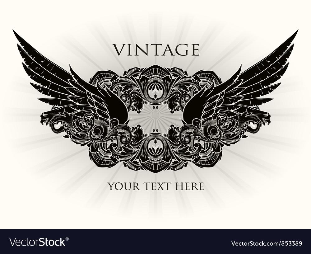 Vintage emblem vector | Price: 1 Credit (USD $1)
