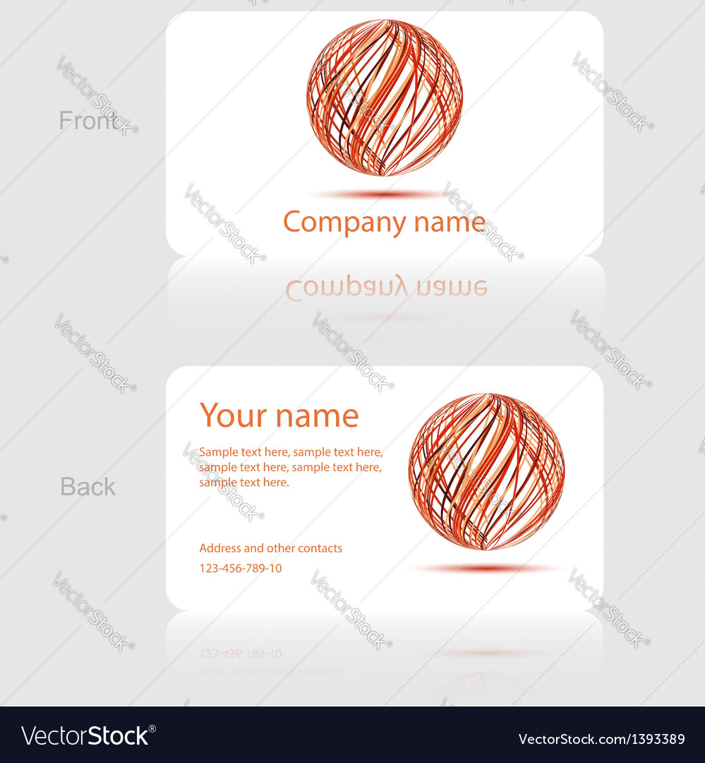 White business card with abstract circle vector | Price: 1 Credit (USD $1)